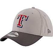 New Era Men's Texas Rangers 39Thirty Diamond Era Grey Flex Hat
