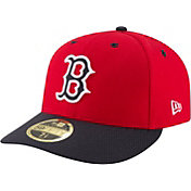 New Era Men's Boston Red Sox 59Fifty Diamond Era Red Low Crown Fitted Hat