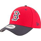 New Era Men's Boston Red Sox 39Thirty Diamond Era Red Stretch Fit Hat