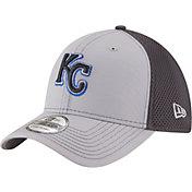 New Era Men's Kansas City Royals 39Thirty Grayed Out Grey Flex Hat