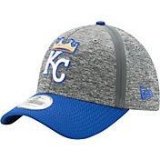 New Era Men's Kansas City Royals 39Thirty Clubhouse Grey/Grey Flex Hat