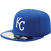 New Era Men's Kansas City Royals 59Fifty Game Royal Authentic Hat