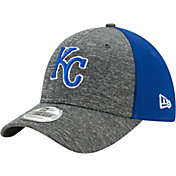 New Era Men's Kansas City Royals 39Thirty Shadow Blocker Grey/Royal Flex Hat