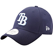 New Era Men's Tampa Bay Rays 9Forty Pinch Hitter Navy Adjustable Hat