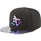 New Era Men's Oakland Athletics 9Fifty Oil Tricked Black Adjustable Hat