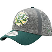 New Era Men's Oakland Athletics 39Thirty Clubhouse Grey/Green Flex Hat