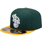 New Era Men's Oakland Athletics 59Fifty Diamond Era Green Batting Practice Hat