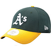 New Era Men's Oakland Athletics 9Forty Pinch Hitter Green Adjustable Hat