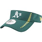 New Era Men's Oakland Athletics Green Adjustable Speed Visor