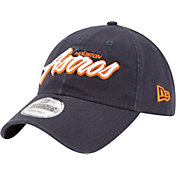 New Era Men's Houston Astros 9Twenty Script Navy Adjustable Hat