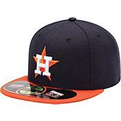 New Era Men's Houston Astros 59Fifty Road Navy Authentic Hat