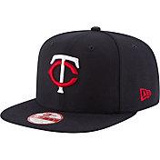 New Era Men's Minnesota Twins 9Fifty Navy Block Back Adjustable Hat