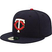 New Era Men's Minnesota Twins 59Fifty Alternate Navy/Gold Authentic Hat