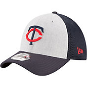 New Era Men's Minnesota Twins 39Thirty Heather Grey Neo Flex Hat