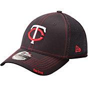New Era Men's Minnesota Twins 39Thirty Neo Navy Flex Hat