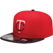 New Era Men's Minnesota Twins 59Fifty Diamond Era Road Red Batting Practice Hat