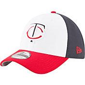 New Era Men's Minnesota Twins 39Thirty Diamond Era White/Navy Flex Hat