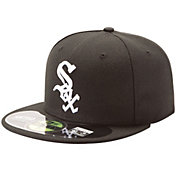 New Era Men's Chicago White Sox 59Fifty Game Black Authentic Hat