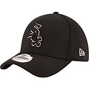 New Era Men's Chicago White Sox 39Thirty Tone Tech Black Flex Hat