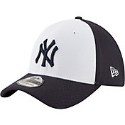 New Era Men's New York Yankees 39Thirty Diamond Era White/Navy Flex Hat