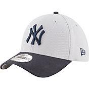 New Era Men's New York Yankees 39Thirty Diamond Era Grey Flex Hat