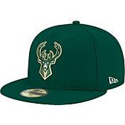 New Era Men's Milwaukee Bucks 59Fifty Green Fitted Hat