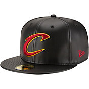 New Era Men's Cleveland Cavaliers 59Fifty Black Leather Fitted Hat