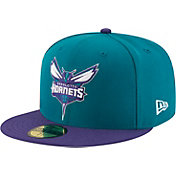 New Era Men's Charlotte Hornets 59Fifty Teal/Purple Fitted Hat