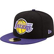 New Era Men's Los Angeles Lakers 59Fifty Hardwood Classics Black/Purple Fitted Hat