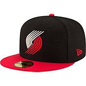 New Era Men's Portland Trail Blazers 59Fifty Black/Red Fitted Hat
