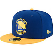 New Era Men's Golden State Warriors 59Fifty Royal/Gold Fitted Hat