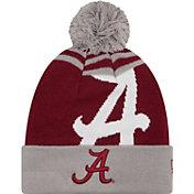 New Era Men's Alabama Crimson Tide Grey/Crimson Logo Whiz 2 Knit Beanie