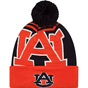 New Era Men's Auburn Tigers Orange/Blue Logo Whiz 2 Knit Beanie