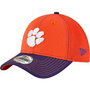 New Era Men's Clemson Tigers Orange/Regalia Team Front Neo 39Thirty Stretch Fit Hat