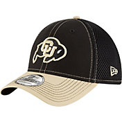 New Era Men's Colorado Buffaloes Black/Gold Team Front Neo 39Thirty Stretch Fit Hat