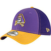 New Era Men's East Carolina Pirates Purple/Gold Team Front Neo 39Thirty Stretch Fit Hat