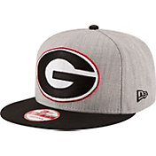 New Era Men's Georgia Bulldogs Grey/Black Grand Snap 9Fifty Adjustable Hat