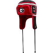 New Era Men's Georgia Bulldogs Red/Black Wordtrap Knit Beanie