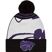 New Era Men's Kansas State Wildcats Black/White Logo Whiz 2 Knit Beanie