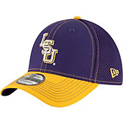 New Era Men's LSU Tigers Purple/Gold Team Front Neo 39Thirty Stretch Fit Hat