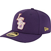New Era Men's LSU Tigers Purple Bevel Team Low Profile 59Fifty Hat