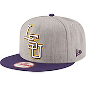 New Era Men's LSU Tigers Grey/Purple Grand Snap 9Fifty Adjustable Hat