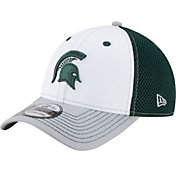 New Era Men's Michigan State Spartans White/Green/Grey Neoflex 39Thirty Hat