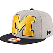 New Era Men's Michigan Wolverines Grey/Blue Grand Snap 9Fifty Adjustable Hat