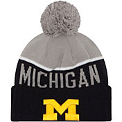 New Era Men's Michigan Wolverines Blue/Grey NE 15 Sport Knit Beanie
