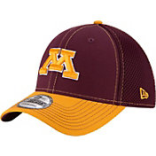 New Era Men's Minnesota Golden Gophers Maroon/Gold Team Front Neo 39Thirty Stretch Fit Hat