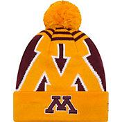 New Era Men's Minnesota Golden Gophers Gold/Maroon Logo Whiz 2 Knit Beanie