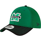 New Era Men's Marshall Thundering Herd Team Front Green/Black Neo 39Thirty Hat