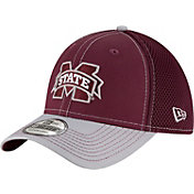 New Era Men's Mississippi State Bulldogs Maroon/Grey Team Front Neo 39Thirty Stretch Fit Hat