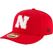 New Era Men's Nebraska Cornhuskers Scarlet Bevel Team Low Profile 59Fifty Hat